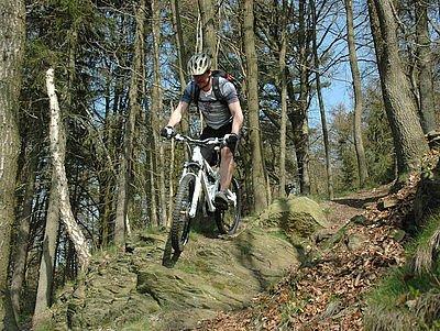 Biken im Wald Willingen